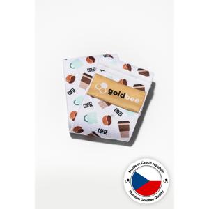 Textilní odporová guma goldbee bebooty coffee bílá/hnědá l